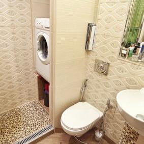 Máy giặt trong hốc phòng tắm