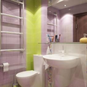 Thiết kế một bồn tắm nhỏ gọn với màu pastel