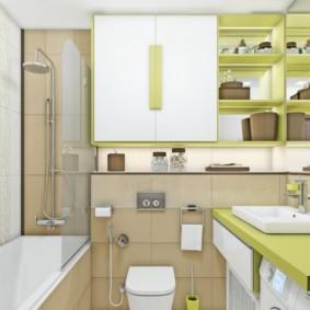 Thiết kế phòng tắm có nhà vệ sinh treo