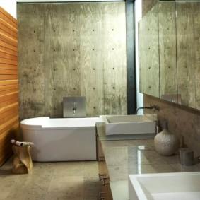 Tấm gỗ trong thiết kế phòng tắm