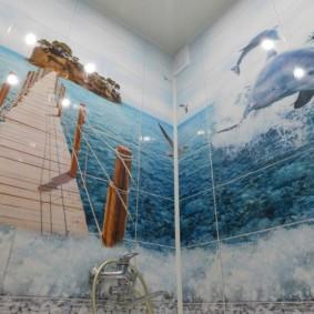 In ảnh về chủ đề biển trong nội thất phòng tắm