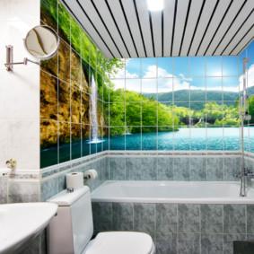 Photopanel trong nội thất phòng tắm
