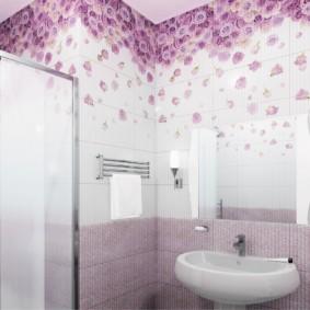 Gạch Lilac với hiệu ứng chuyển màu