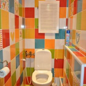 Carrelage lumineux dans les toilettes