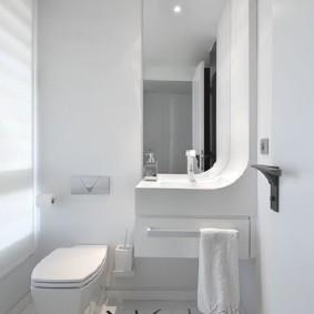 Conception de toilettes en blanc