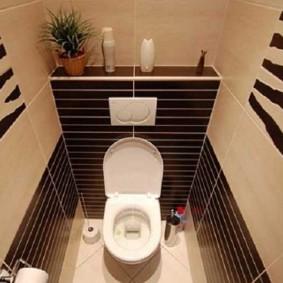 Intérieur des toilettes de style moderne