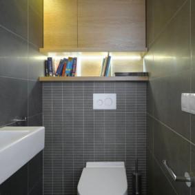 Livres dans une niche avec éclairage décoratif