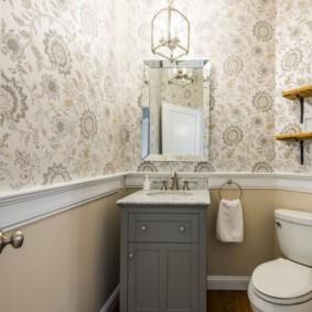 Toilettes rustiques contemporaines