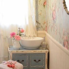 Trang trí nội thất phòng tắm hoa