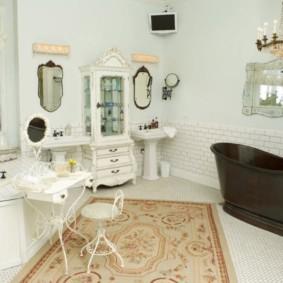 Thảm trong nội thất phòng tắm
