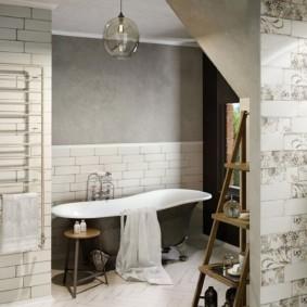 Gạch Shabby Chic trên tường phòng tắm