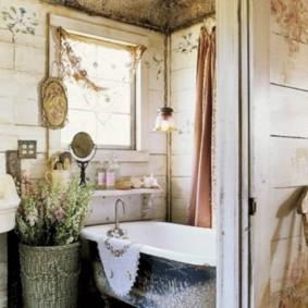 Phòng tắm nhà ở nông thôn theo phong cách retro