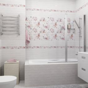 Phòng tắm Shabby Chic hiện đại