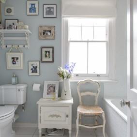 Trang trí phòng tắm Shabby Chic