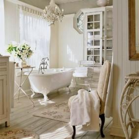 Ván tẩy trắng trên sàn phòng tắm