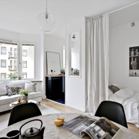 chambre salon 17 m² décor
