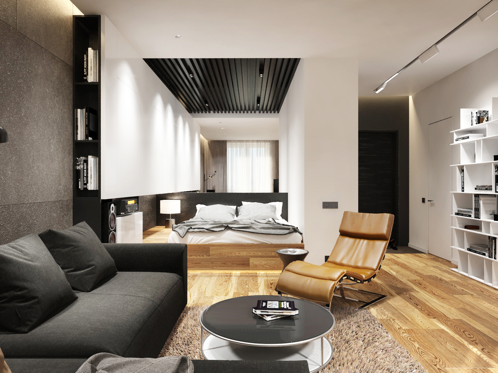 chambre salon 17 m² design