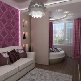 chambre salon 17 m² design photo