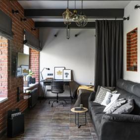 salon chambre 17 m² idées design