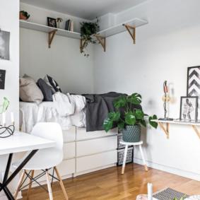 salon chambre 17 m² idées intérieures