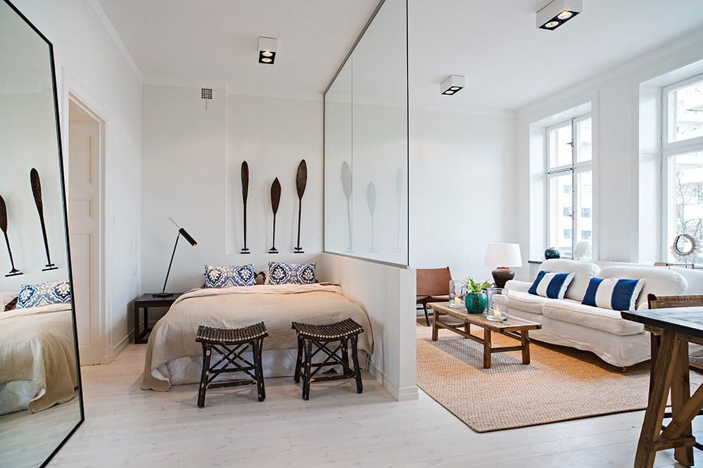 salon chambre 17 m2 intérieur