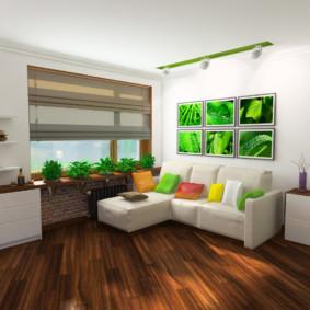 salon chambre dégagement 17 m²