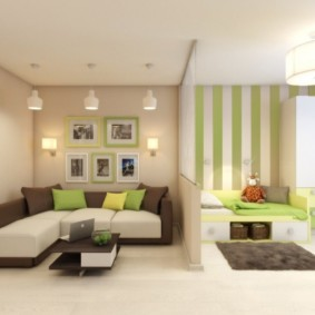 salon chambre 17 m² vues