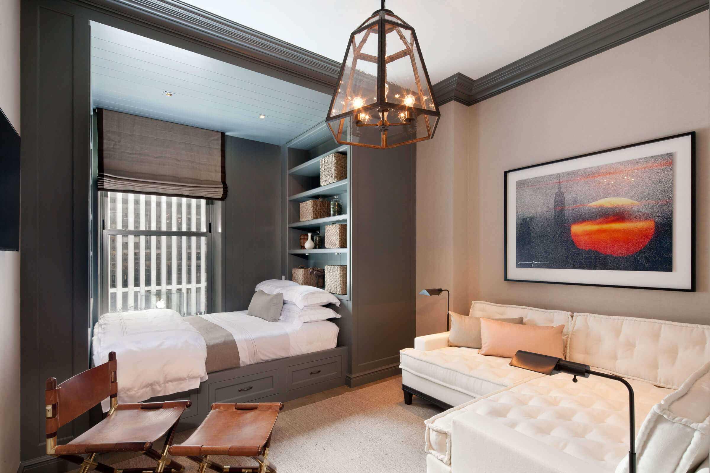 chambre-salon 18 m² avec une niche