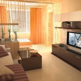 chambre-salon 18 m² l'intérieur