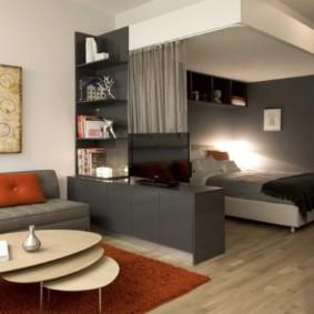 chambre-salon 18 m² photo