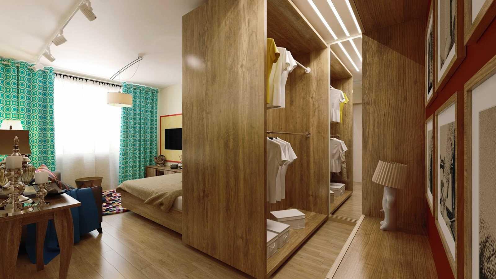 chambre-salon 18 m² avec dressing