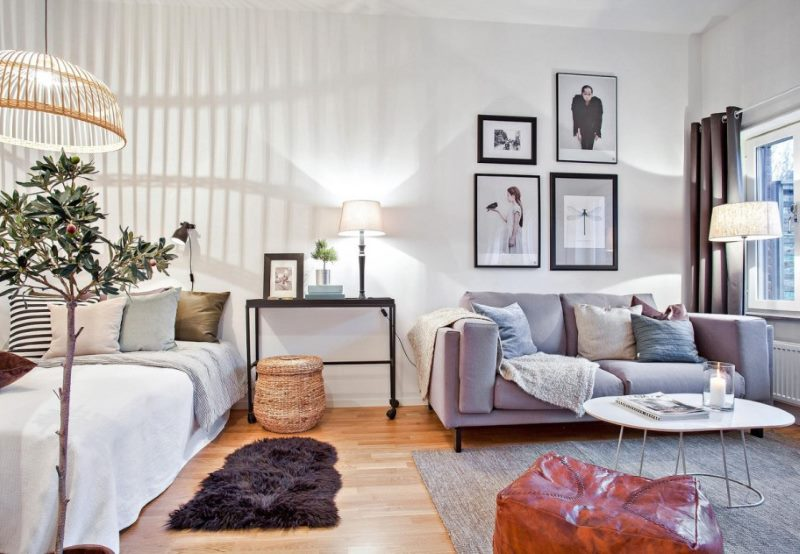chambre-salon 18 m² conception