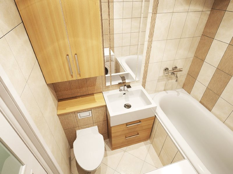 Hệ thống ống nước nhỏ gọn trong phòng tắm nhỏ