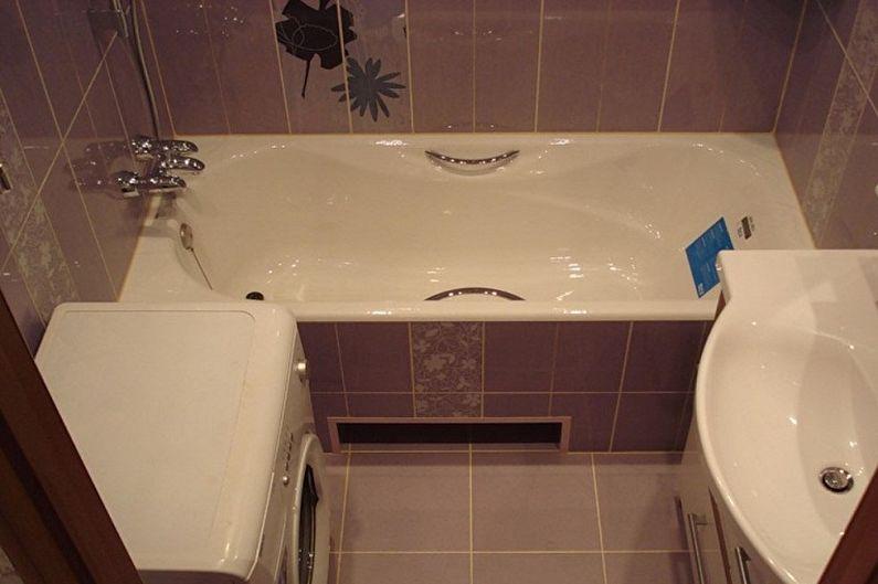 Agencement d'une salle de bain carrée avec lave-linge