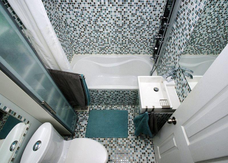 Nội thất cho phòng tắm nhỏ gọn ở Khrushchev