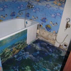Thème marin à l'intérieur de la salle de bain