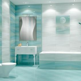 Design de salle de bain dans un style contemporain