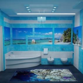 Salle de bain design avec suspensions