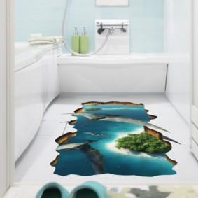 Impression photo dans la décoration intérieure de la salle de bain