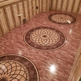 Design de sol de salle de bain classique