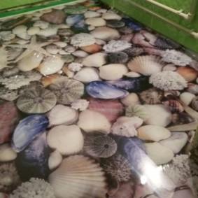 Thème marin à l'intérieur d'une salle de bain moderne