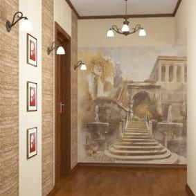 couloir à Khrouchtchev avec papier peint