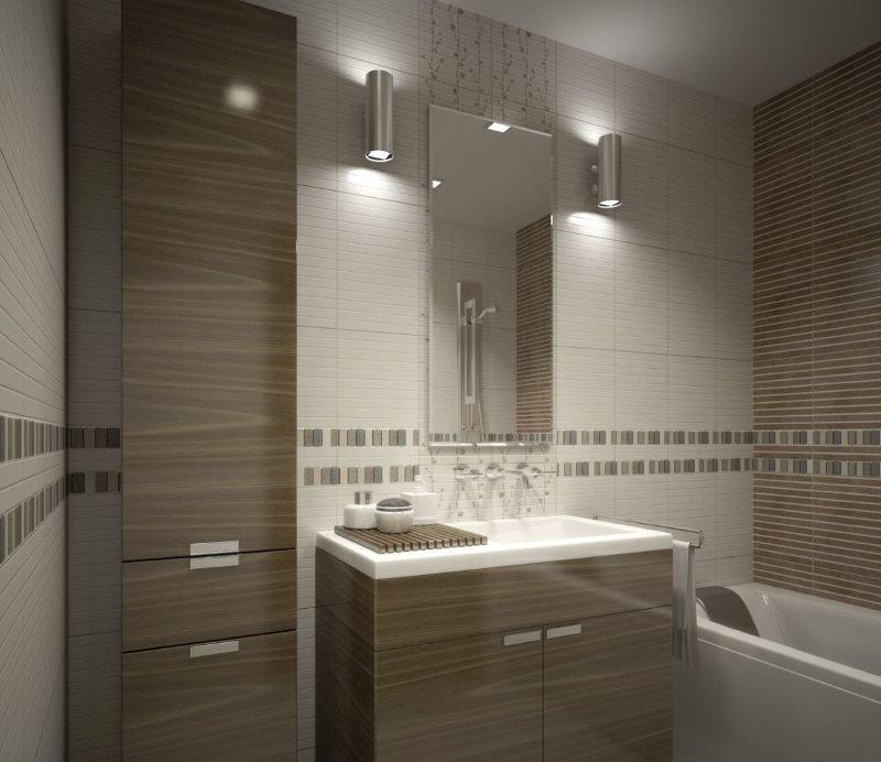 الشمعدانات الجدار على جانبي مرآة الحمام