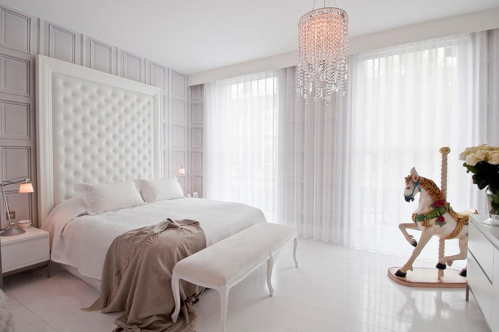tulle blanc pour la chambre