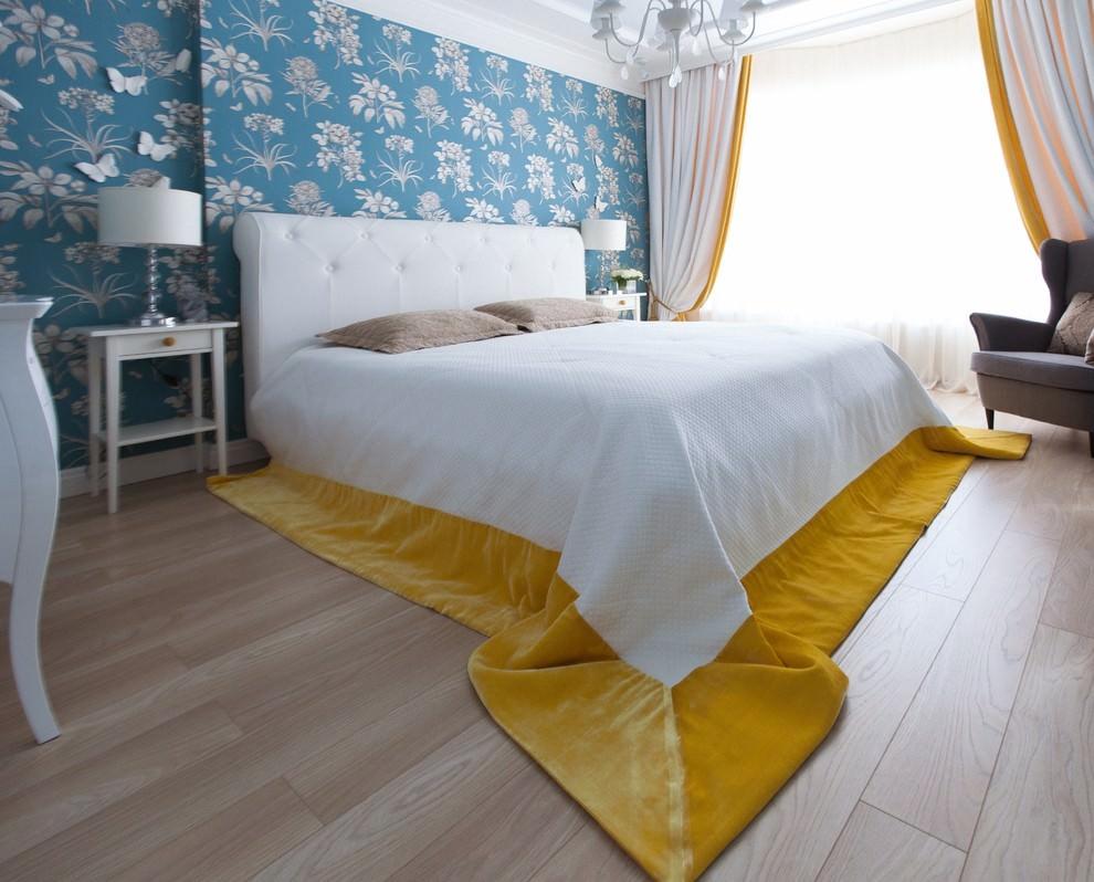 rideaux bicolores dans la chambre