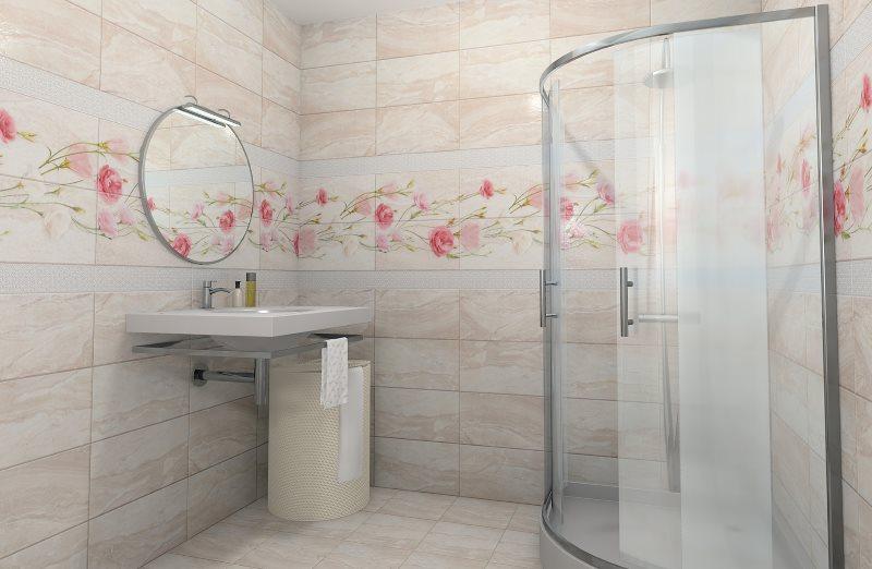 Cabin phòng tắm góc với tấm nhựa