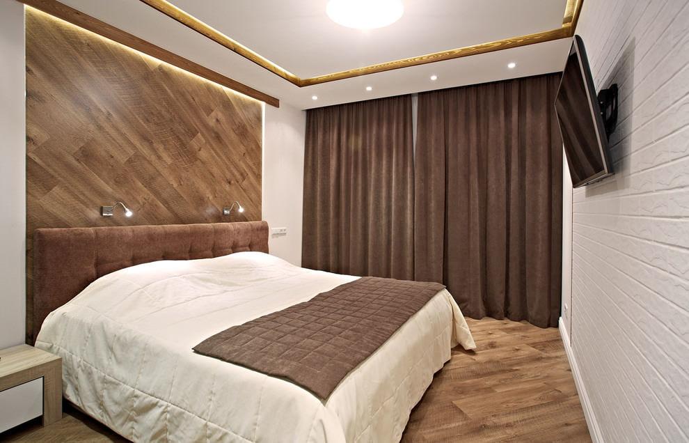 rideaux serrés dans la chambre