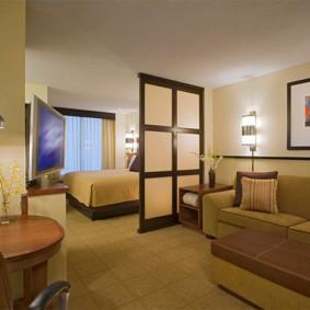chambre salon 17 m² décor photo