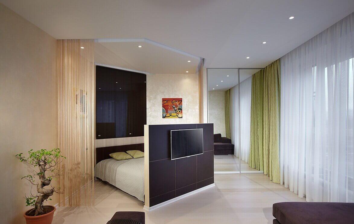 chambre salon 17 m² décoration photo