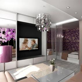 chambre salon 17 m² photo intérieur